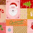 Vintage christmas card in red colors — Imagen vectorial
