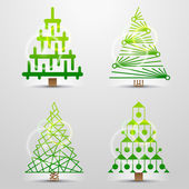 Stylized icons of christmas tree — Vetorial Stock