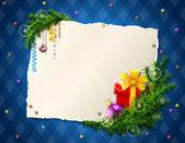 安物の宝石とギフトのクリスマスのリストの用紙 — ストックベクタ