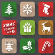 Set of christmas icons in flat style — Stock Vector #35903695