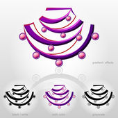 Symbol in shape of bust with bead necklace — Vector de stock