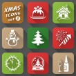 Set of christmas icons in flat style — Stock Vector #51452119