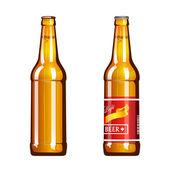 Bottle of Light Beer — Stock Vector