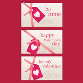 Day Valentine Card Set — Stock Vector