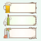 Vintage Frames for Restaurant — Stock Vector