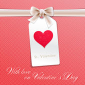 Card on Valentine's Day — Stock Vector