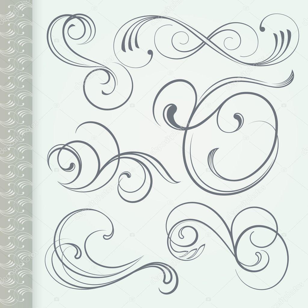 Decorative Vintage Floral Curls — Stock Vector © OsAdiemus ...