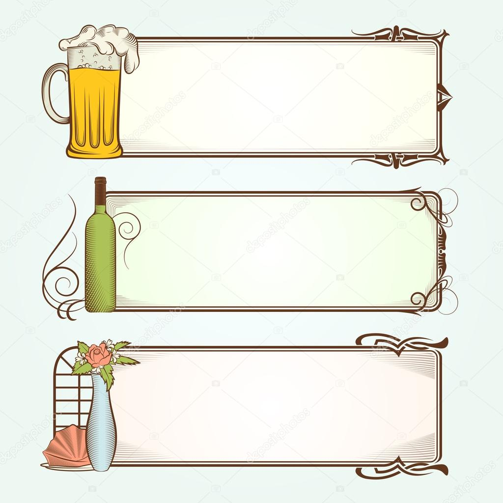 Vintage Frames for Restaurant  Stock Vector #19228915