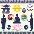 Buddhism — Vector de stock #22105333