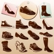 Different Shoes Icons — 图库矢量图片