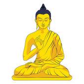 Sitting Buddha — Stock Vector