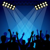 Fans At The Concert — Stock Vector