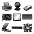 Royalty-Free Stock Immagine Vettoriale: Hardware Icon Set