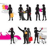 Shopping in Store — Stock Vector
