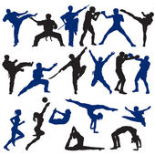 Set of Sport Silhouettes — Stock Vector