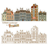 Typical French Architecture — Stock Vector
