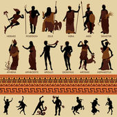 Mitologia e le antiche divinità — Vettoriale Stock