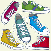 Grunge Sneakers — Vector de stock