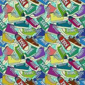 体育鞋背景 — 图库矢量图片
