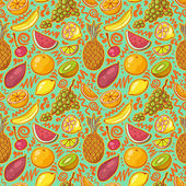 Tropical Fruits Background — Stock Vector