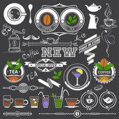 Retro Decor for Menu — Stock Vector