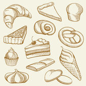 Drawing Bakery — Vector de stock