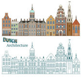 Architecture of Amsterdam — Vector de stock