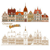 Typical Bavarian Architecture — Stock Vector