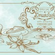 Drawing Bakery Banner — Vettoriale Stock  #49605441
