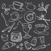 Doodle Coffeeshop Illustrations — Stock Vector
