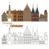 Architecture in Germany — Stock Vector