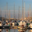 Stock Photo: Yachts in a bay in early evening