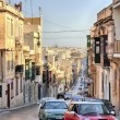Sliema, Malta old city central street at sunny day — Stock Photo