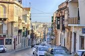 Gzira, Malta old city central street at sunny day — Stock Photo