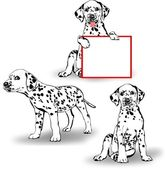Three Dalmatians — Stock Vector