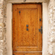Old wooden outer door — Stockfoto