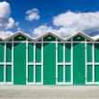 Change rooms in Italian beach — Stock Photo