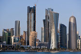The new buildings in Doha — Stock Photo