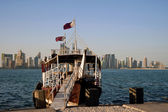 Fishing boat in the Doha Qatar harbor. — Stock Photo