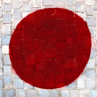 Japan flag painted — Stock Photo