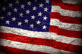 American flag painted — Stock Photo