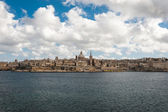 Skyline of the Maltese capital city Valletta — Stock Photo