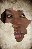 African Woman Map — Stock Photo