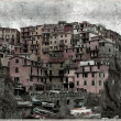 Old vintage-Manarola on the Cinque Terre, Italy — Stock Photo