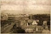 Vintage vykort med utsikt till rom — Stockfoto