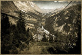 Ancienne carte postale, italien dolomites rocheuses — Photo