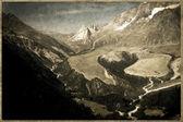 Old Postcard style, Italian Dolomites Rockies — Stock Photo