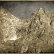 Old Postcard style, ItaliDolomites Rockies — Stock Photo #40087373
