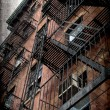 Vintage grunge image of new york city — Stock Photo