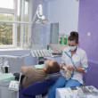 Dentist and patient. — Lizenzfreies Foto
